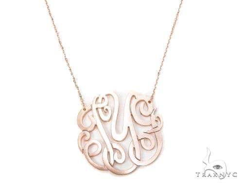 Monogram Sterling Silver Necklace-40020 Silver