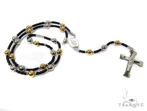 Rope Stainless Steel Cross Rosary 40041 Stainless Steel