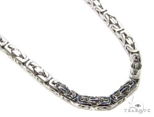Byzantine Silver Chain 36 Inches 8mm 107.5 Grams-40069 Silver