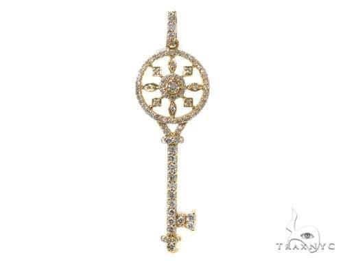 Prong Diamond Key Pendant 40161 Style