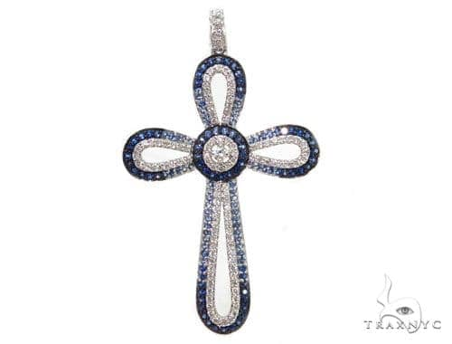 Prong Diamond Cross Pendants 40230 Style