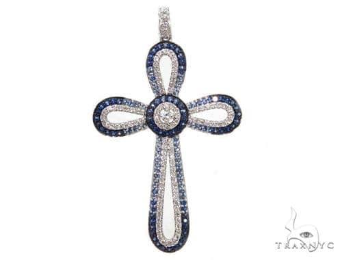 Prong Diamond Cross Pendants 40230 Style