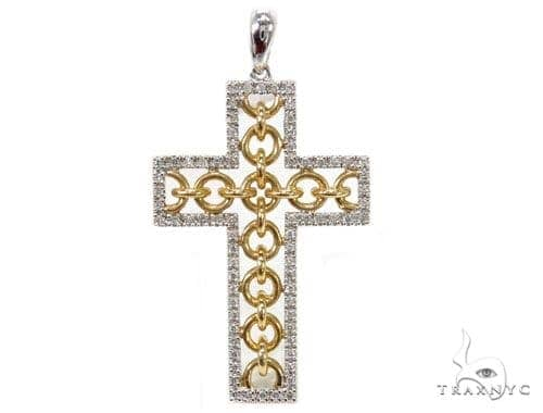 Prong Diamond Cross Pendants 40231 Style
