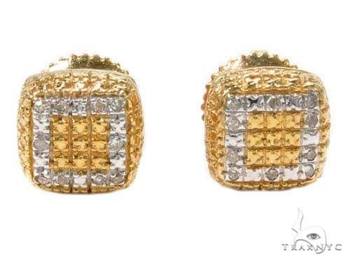 Prong Diamond Silver Earrings 40272 Metal