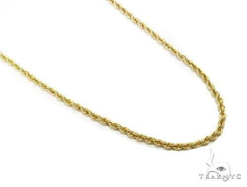 Rope Gold Chain 18 Inches 2mm 2.7 Grams 40355 Gold