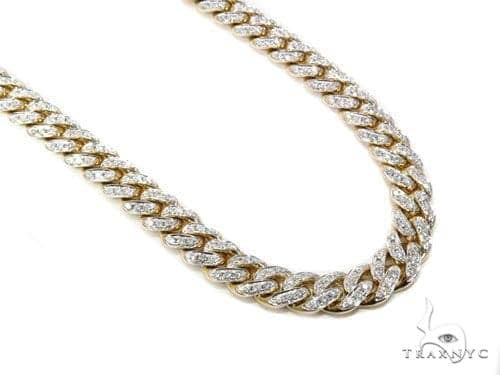 Prong Miami Cuban Diamond Chain 30 Inches 12mm 232.9 Grams 40448 Diamond