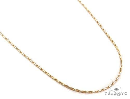 14k Boston Link Gold Necklace 16 Inches 1mm 2.3Grams 40790 Gold