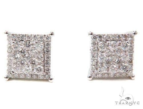 Prong Diamond Earrings 40611 Stone