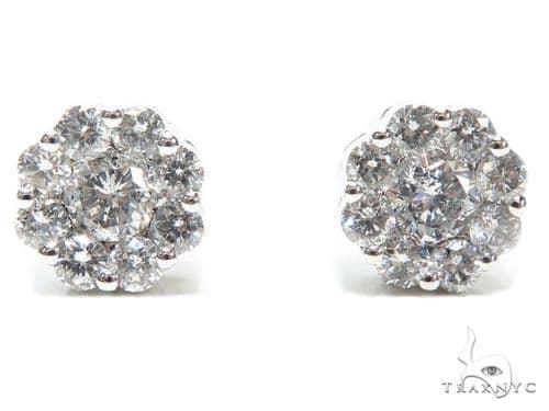 Prong Diamond Earrings 40649 Stone