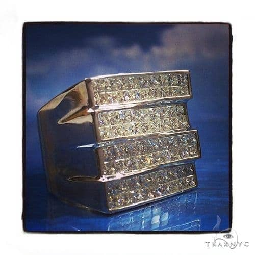 Invisible Diamond Ring 40803 Mens Diamond Rings