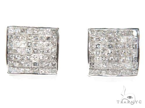 Invisible Diamond Earrings 40644 Stone