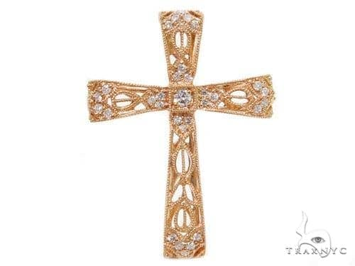 Prong Diamond Cross Pendants 40232 Style