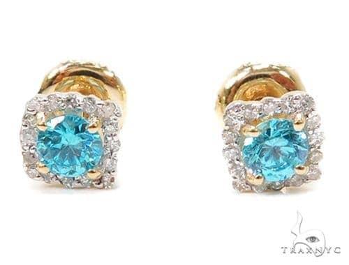 Prong Diamond Earrings 40558 Stone