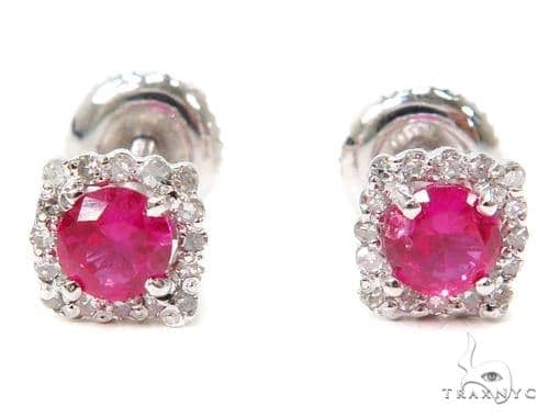 Prong Diamond Earrings 40559 Stone
