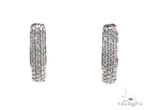 Prong Diamond Hoop Earrings 40893 Style