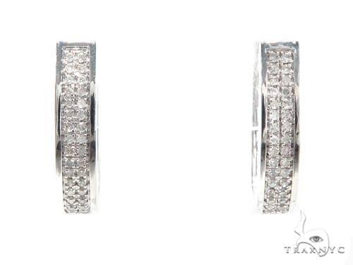 Prong Diamond Hoop Earrings 40890 Style