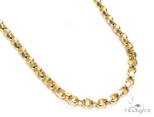 Cable Gold Chain 22 Inches 4mm 31.4 Grams 40917 Gold