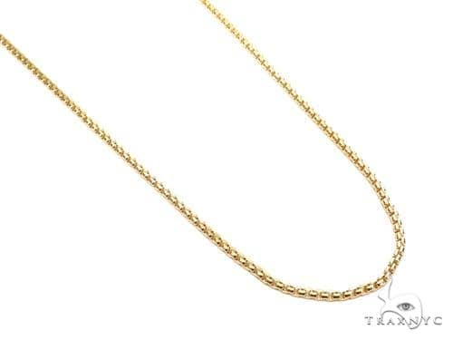 Round Box Gold Chain 22 Inches 2mm 6.6 Grams 40909 Gold