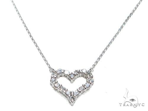 Heart Diamond Necklace 40937 Diamond