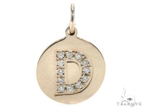 Prong Diamond Initial 'D' Pendant 40948 Style