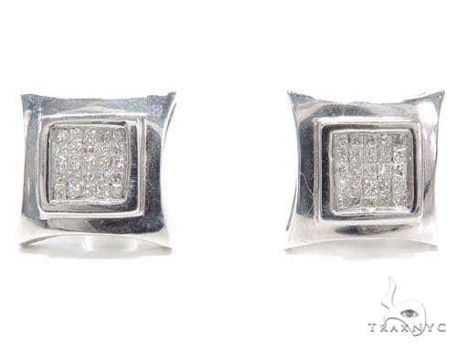 Invisible Diamond Earrings 40957 Stone