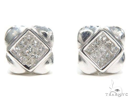 Invisible Diamond Earrings 40954 Stone