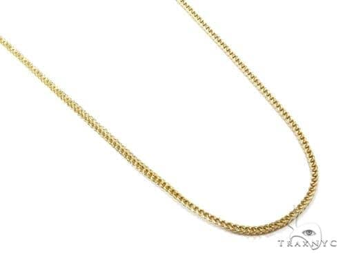 10k Gold Franco Hollow Chain 22 Inches 2mm 7.20 Grams 40978 Gold