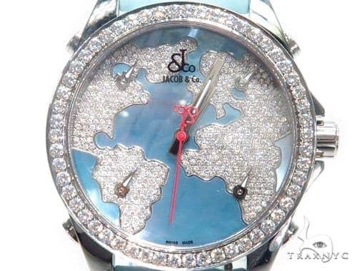 JACOB & Co Five Time Zone Diamond Watch JCM47WM 41008 JACOB & Co
