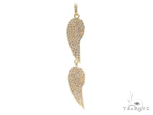 Feather  Sterling Silver Charm 41146 Metal