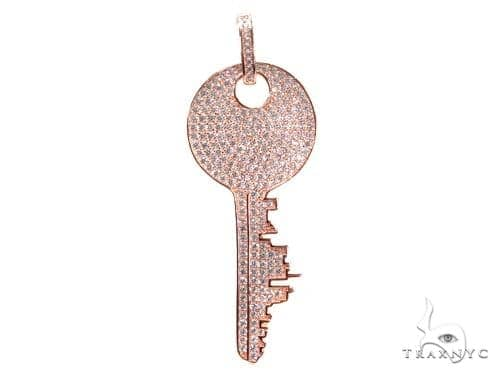 Key Sterling Silver Pendant 41156 Metal