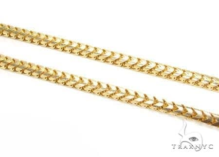 18K Gold Franco 30 Inches 4mm 97.8 Chain 41176 Gold