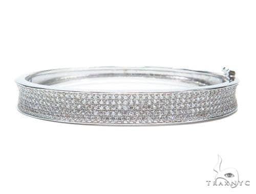 Sterling Silver Bangle Bracelet 41206 Silver & Stainless Steel