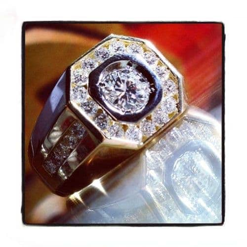 Mens Diamond Ring 20400 Stone