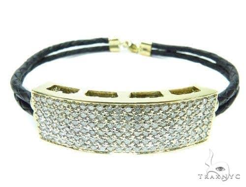Prong Diamond Leather Rope Bracelet 41580 Diamond