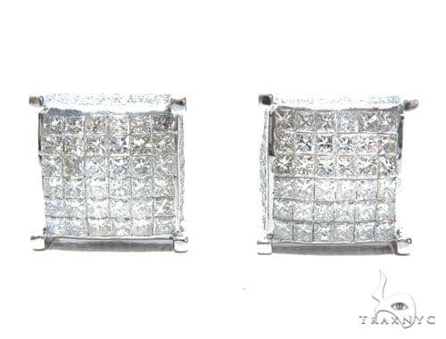Invisible Diamond Earrings 41631 Stone