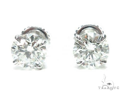 Prong Diamond Stud Earrings 41653 Style