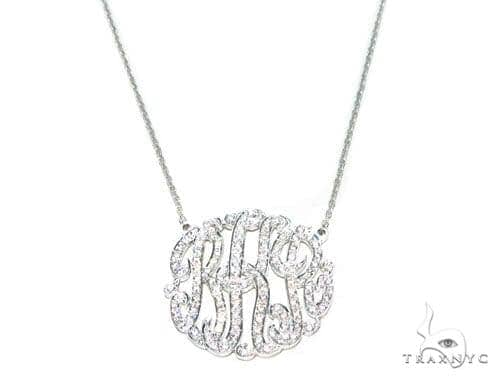Monogram Sterling Silver Necklace 41654 Silver