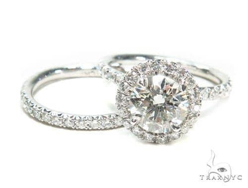 Prong Diamond Engagement Ring Set 41679 Engagement