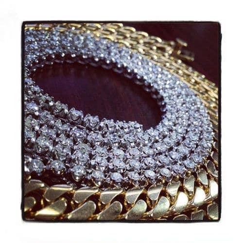 Polar Ice Diamond Chain 32 Inches 4mm 56.1 Grams Diamond