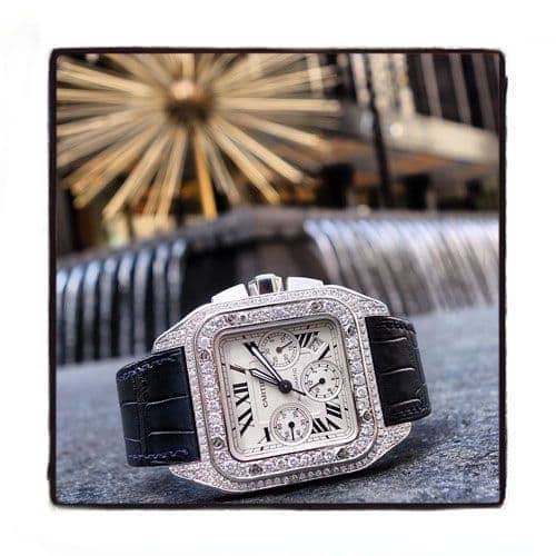 Cartier Santos 100 Diamond Watch Cartier