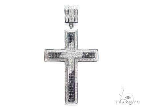 Prong Diamond Silver Cross 41775 Silver