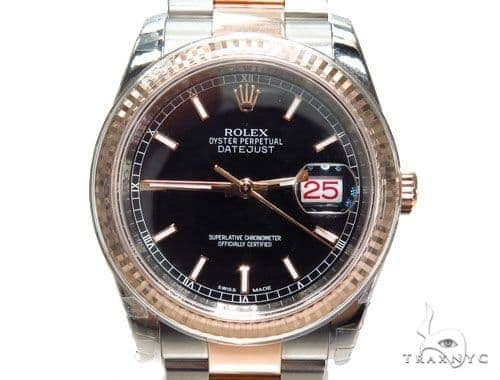 Rolex Datejust Rose Gold and Steel 116261 bkso
