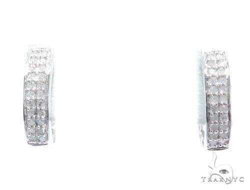 Prong Diamond Hoop Earrings 41877 Style