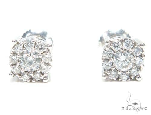 Prong Diamond Stud Earrings 41867 Style