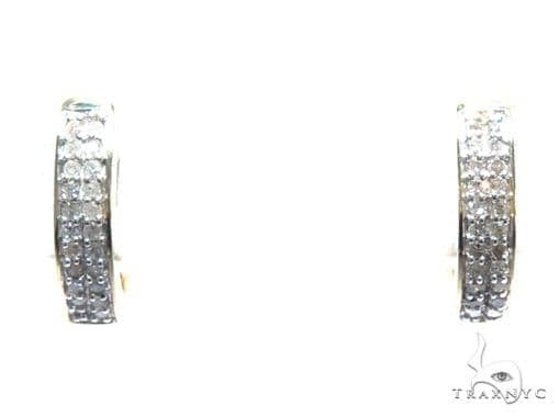Diamond Hoop Earrings 41862 Style