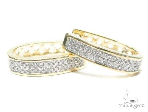 Prong Diamond Hoop Earrings 41861 Style