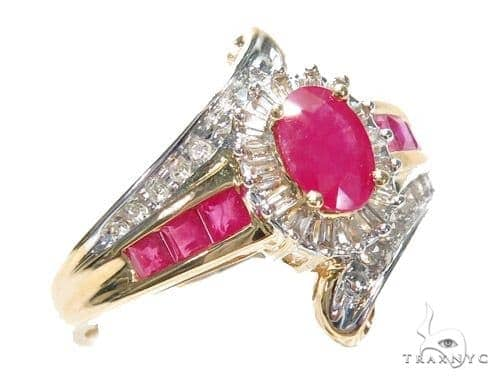 Light Pink Ruby & Diamond Anniversary/Fashion Ring 41821 Anniversary/Fashion