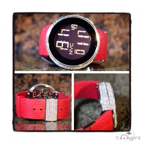 Fully Iced Digital Red Super Gucci Watch 41896 Gucci