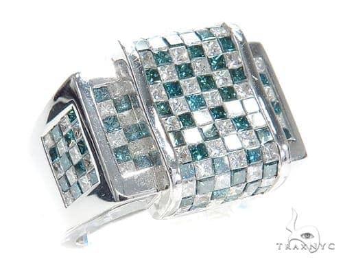 Invisible Colored Diamond Ring 42036 Stone
