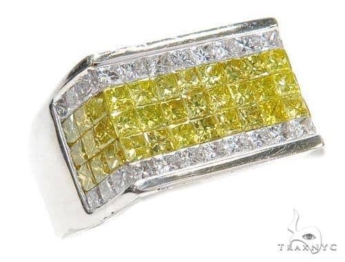 Invisible Colored Diamond Ring 42039 Stone